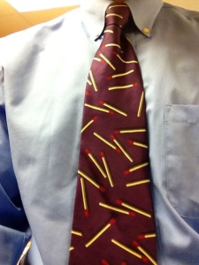 Tie with matches