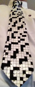 "Parashat Devarim begins ""These are the words...."" Hence, a crossword puzzle tie."