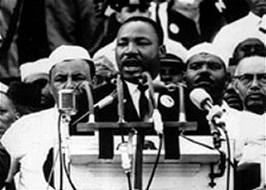 "Rev. Dr. Martin Luther King, Jr., delivering ""I Have a Dream speech, August 28, 1963"
