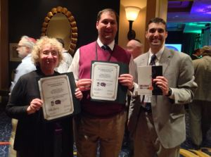 Temple Torah of West Boynton Beach received two awards at the USCJ conference in Baltimore: commendations for Wiston Family Torah Tots social action programming and Temple Torah's new Shabbat With A Twist Siddur (l to r: Wilma Turk, Cantor Zachary Mondrow and Rabbi Edward Bernstein).