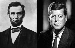 President Abraham Lincoln and President John F. Kennedy