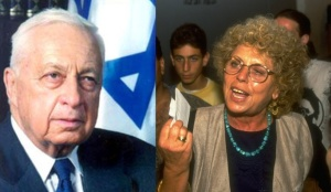 Departed Israeli leaders, Ariel Sharon (l) and Shulamit Aloni (r)