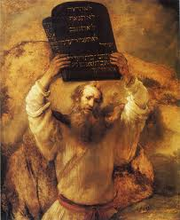 Moses breaking tablets (Rembrandt)