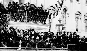 Lincoln delivering Second Inaugural Address