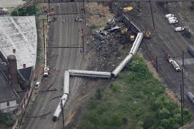 Amtrak derailment, 5/12/15 (Photo from NY Daily News).