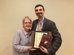 Rabbi Ed Bernstein with Arline Duker, May 23, 2016, at the Town & Village Synagogue in New York